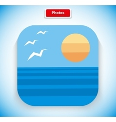 Photo App Icon Flat Style Design vector image vector image