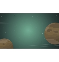 Planet space background of landscape vector