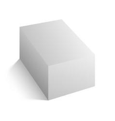 realistic white block mockup vector image vector image