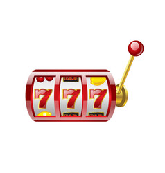 Red 777 slot - modern isolated vector