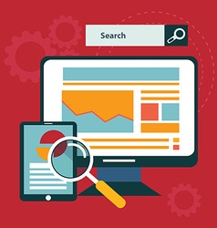 SEO concept in flat style vector image vector image
