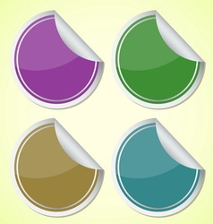 Set of colourful circle stickers vector image vector image