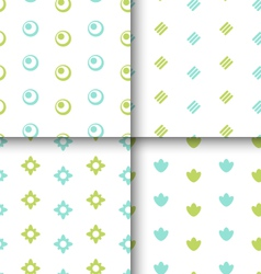 Set seamless pattern with geometric texture vector