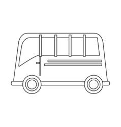 Single bus icon vector