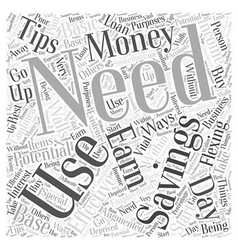 Sm how to save your money word cloud concept vector
