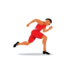 Sprinter runner sign vector