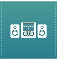 stereo flat icon vector image