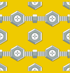 Symmetrical background with stud bolt vector