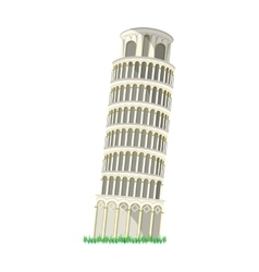 Tower of Pisa in Italy icon in cartoon style vector image vector image