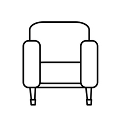 TV chair isolated icon vector image