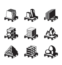 Various construction and building materials vector image vector image