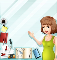 Woman with other accessories vector