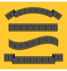 Film strip frame four set Different shape ribbon vector image