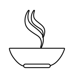 Soup dish isolated icon vector