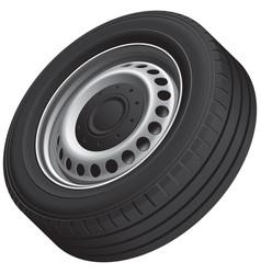 Typical vans wheel vector
