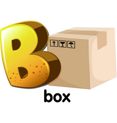 A letter b for box vector