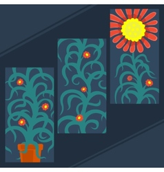 Art plant set vector