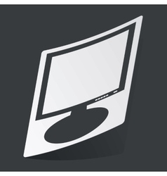 Monochrome monitor sticker vector