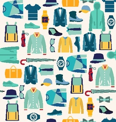 Pattern fashionable mens wear man fashion vector