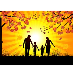 autumn and family vector image