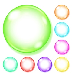 Opaque multicolored glass spheres vector