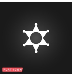 Sheriff star icon vector