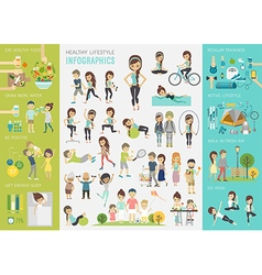 Infohealthy lifestyle vector