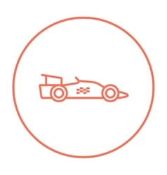 Race car line icon vector