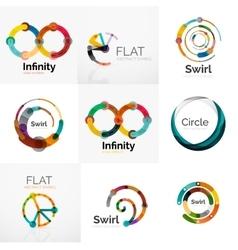 Collection of abstract circle logos vector
