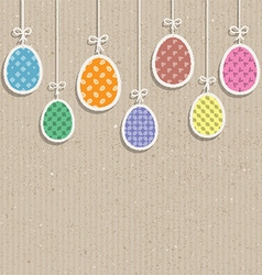 Easter eggs on cardboard texture 0803 vector