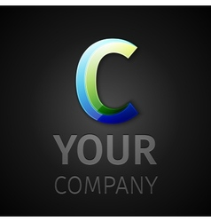 abstract logo letter C vector image