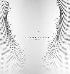 abstract technology dots mesh vector image vector image