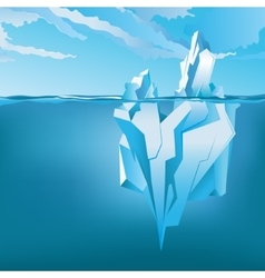 Background with Iceberg vector image vector image