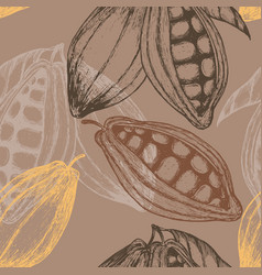 cocoa hand drawn seamless pattern vector image
