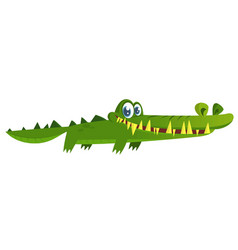cute cartoon crocodile character vector image
