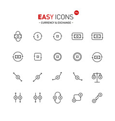 easy icons 10a exchange vector image