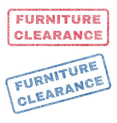 Furniture clearance textile stamps vector