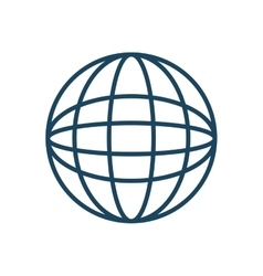 globe planet isolated icon vector image vector image