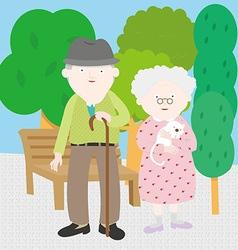 Grandpa Grandma vector image vector image