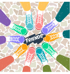 Greetings card pairs of shoes vector