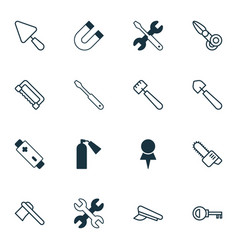 instrument icons set collection of scoop vector image