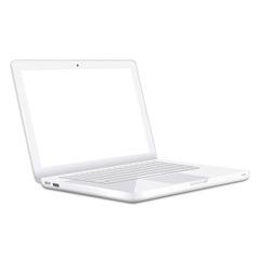 Modern white laptop vector