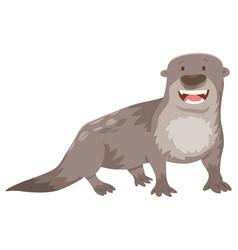 Otter cartoon animal character vector
