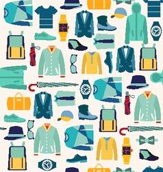 Pattern fashionable mens wear man fashion vector