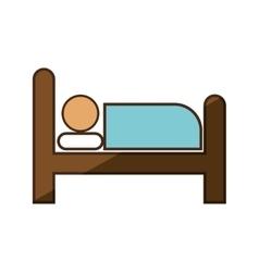 Person sleep hotel service vector