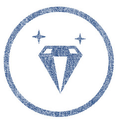 Sparkle diamond crystal rounded fabric textured vector