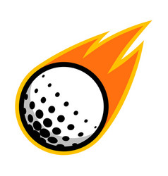 Sport ball fire golf vector