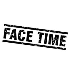 square grunge black face time stamp vector image