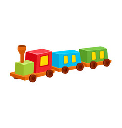 train toy colorful isolated vector image vector image