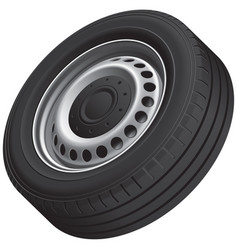 typical vans wheel vector image vector image